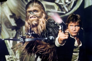 Mayhew and Harrison Ford in Star Wars: Episode IV