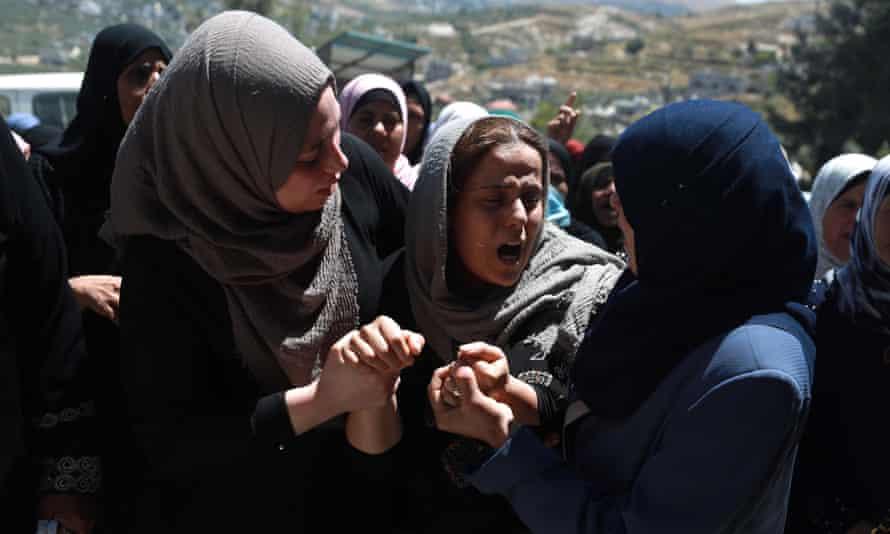 Funeral of Palestinian in Nablus