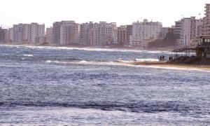 Tower blocks on the coast of Famagusta