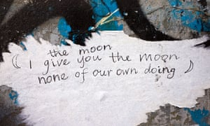 Poetry on a wall in London