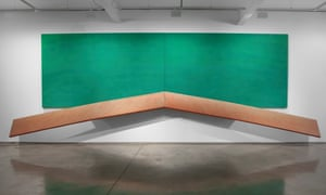 Richard Smith, Untitled, 1971-72, acrylic on four canvases.