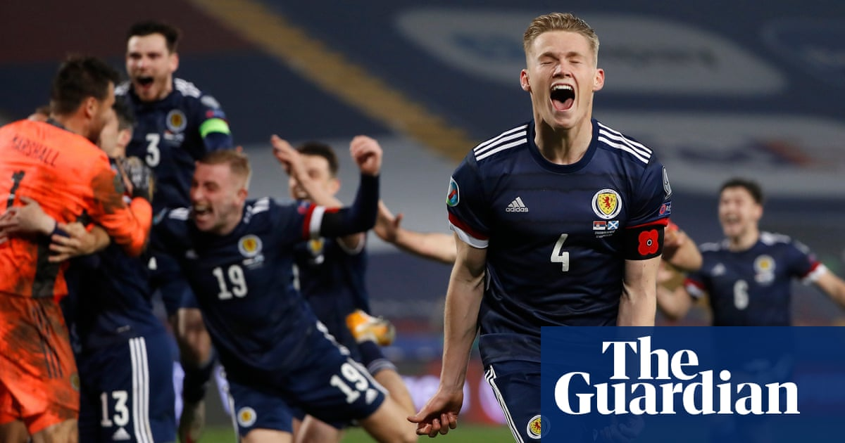 Marshall save ends Scotlands long wait as they pip Serbia to Euro 2020 finals
