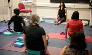 Kingston hospital in south London offers staff yoga classes to improve their wellbeing.