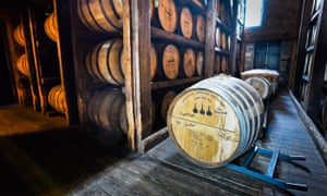 Barrel at the the Woodford distillery