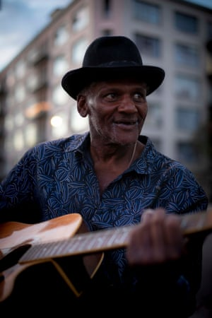Darrell Fields, 62, was a homeless man in Los Angeles known as Mr Guitar. He was killed in August when his tent was set ablaze.
