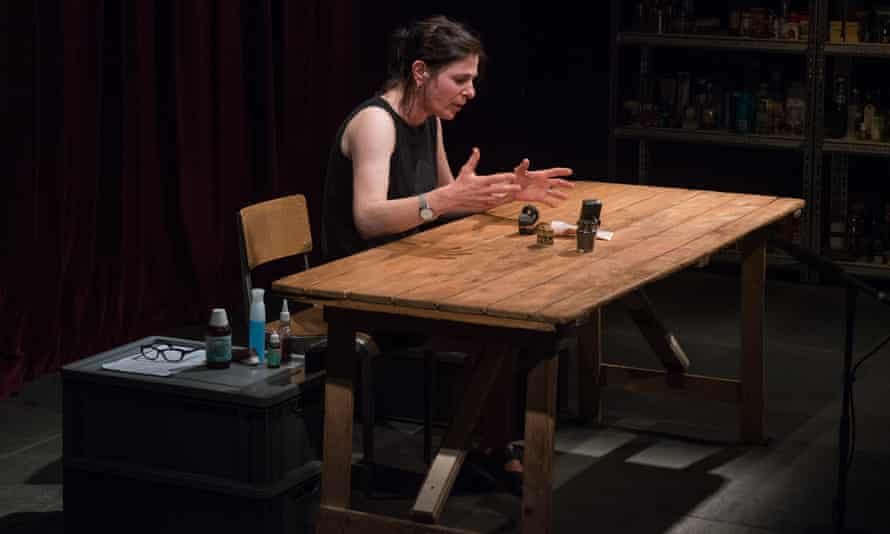 'We became obsessive about our casting' … Claire Marshall performs tabletop Shakespeare.