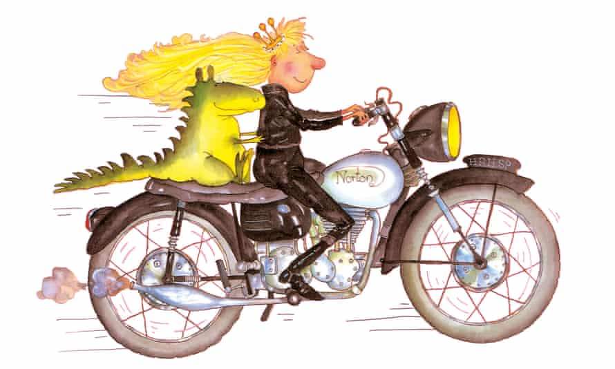 Illustration from Babette Cole's Princess Smartypants series.