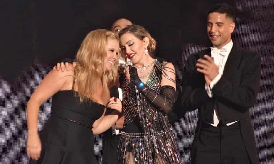 Amy Schumer and Madonna together on stage