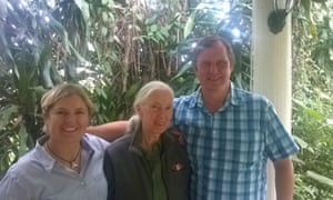 Wayne Trotter with Jane Goodall (centre) and PAMS co-founder Krissie Clark