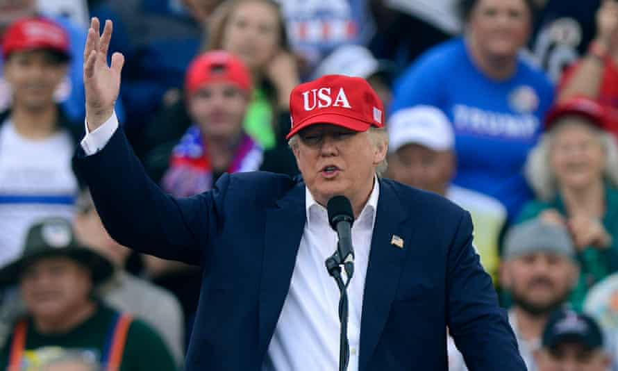 Donald Trump speaks to a crowd in Mobile, Alabama. The president-elect reacted on Twitter to China's seizure of an unmanned US naval vessel.