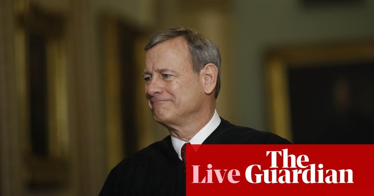 Trump impeachment: Chief Justice John Roberts and senators sworn in as trial begins – live | US news