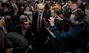 Jeremy Corbyn at the University of Lancaster on 15 November, where he announced Labour's plans for free broadband.