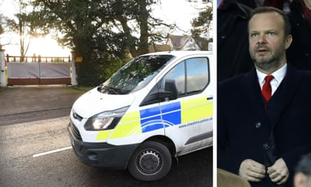 Police attended Ed Woodward's home in Cheshire to investigate last month's attack.