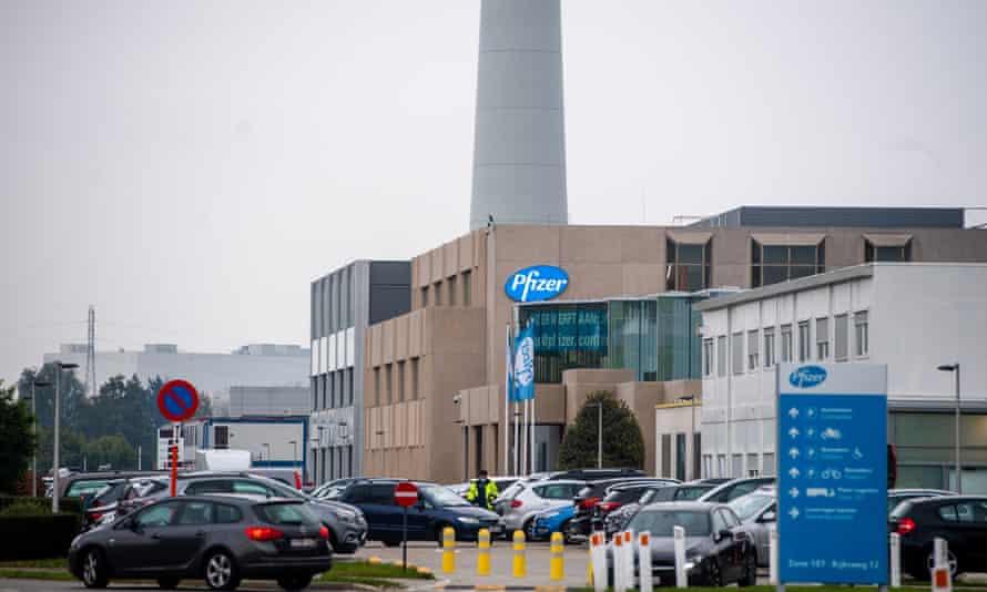 Pfizer's Covid-19 production site in Puurs, Belgium
