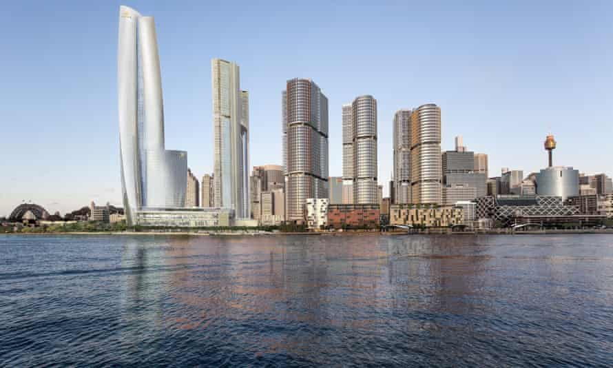 An artist's impression of James Packer's Crown casino project at Barangaroo