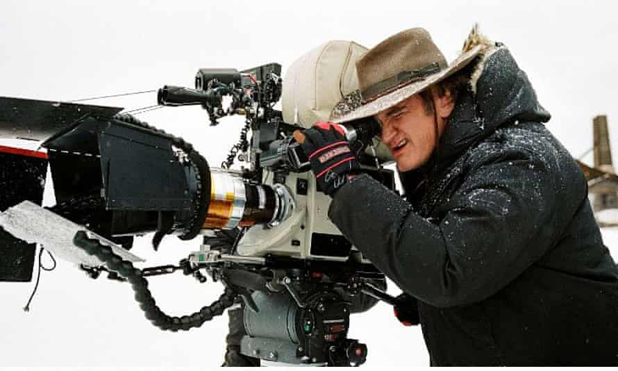 Quentin Tarantino during the filming of The Hateful Eight.