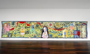 A tapestry by Grayson Perry at Victoria Miro Gallery.