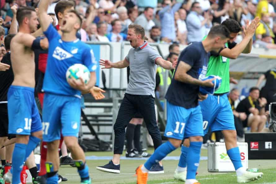 Joy for Julian Nagelsmann and Hoffenheim.
