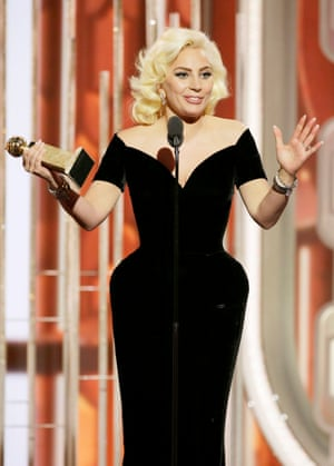 Lady Gaga accepts the award for Best Actress - Limited Series or TV Movie for American Horror Story: Hotel