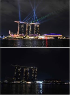 The Marina Bay Sands hotel and resort in Singapore