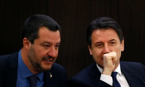 Giuseppe Conte, and his deputy, Matteo Salvini.