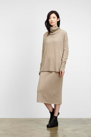 "Eileen Fisher undyed cashmere turtleneck, £408, and straight skirt, £306, both <a href=""http://www.eileenfisher.com/EileenFisher.jsp"">eileenfisher.co.uk</a>"