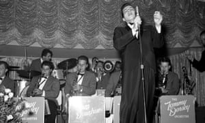 Frank Sinatra Jr performing with the Tommy Dorsey Orchestra at the Flamingo hotel in Las Vegas, 1963.