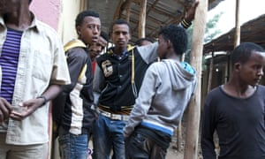 Eritrean refugees at the Shire refugee camp in Ethiopia