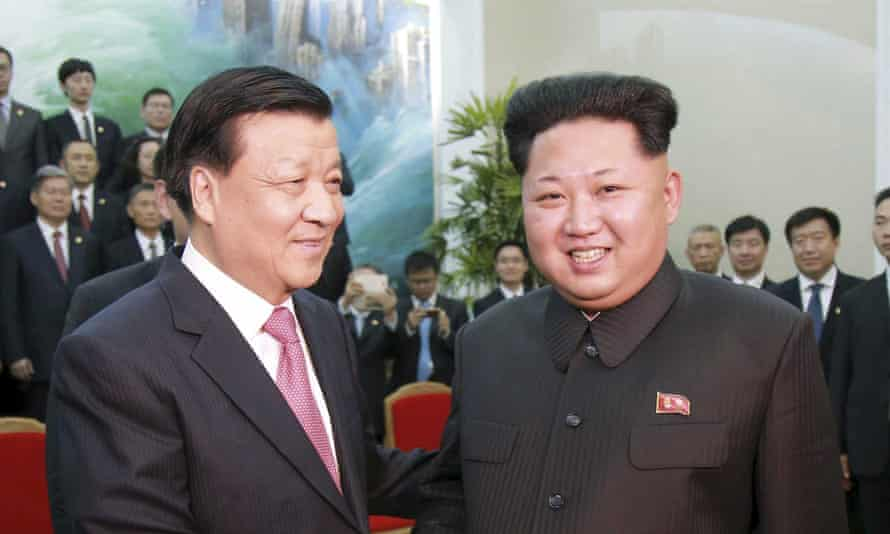 Kim Jong-un receives a delegation of the Communist party of China led by Liu Yunshan.