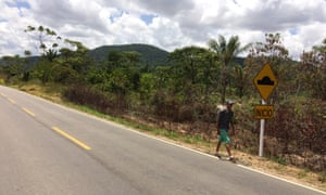 Richard Villahermosa, a 20-year-old Venezuelan migrant, treks into Brazil.
