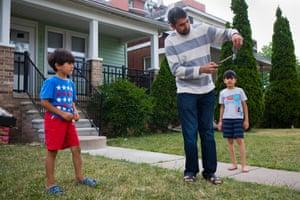 Natheer Al-Ali, an observant Muslim immigrant from Iraq.