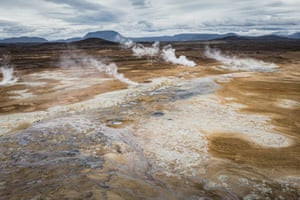 One of the largest geothermal field in Iceland, Námafjall/Hverir