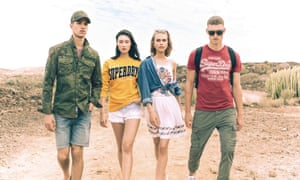 Models wearing Superdry clothing