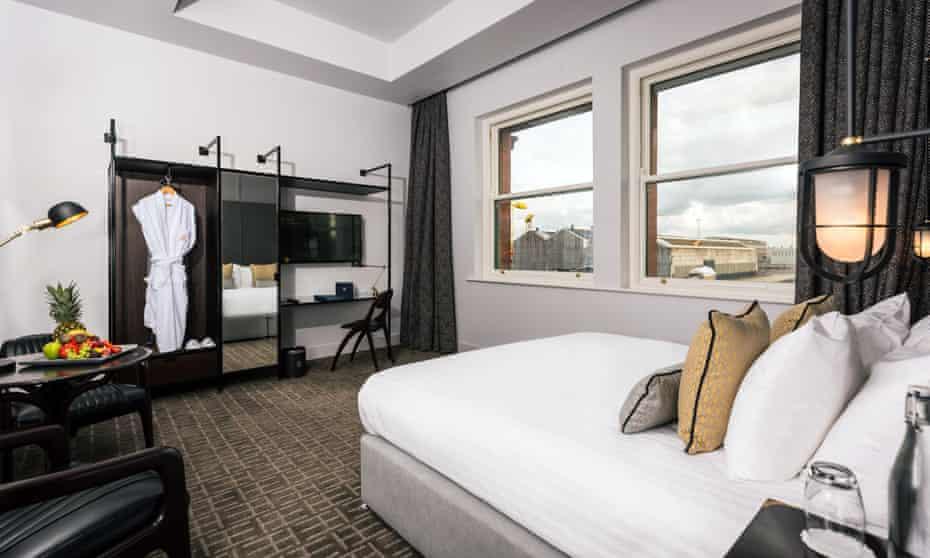 Bedroom at Titanic Hotel, Belfast