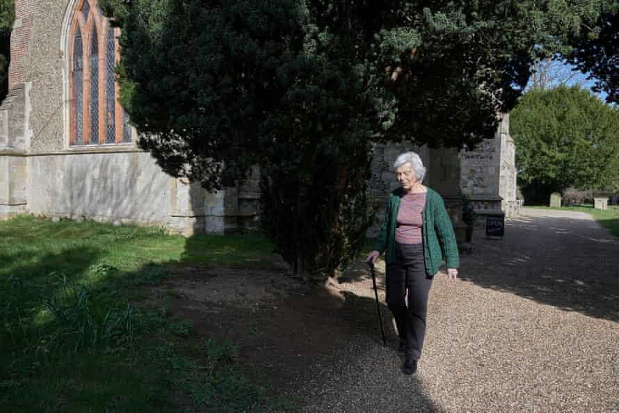 Eleanor Soar leaves All Saints church in Holbrook