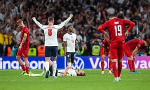 England players celebrate at full time.