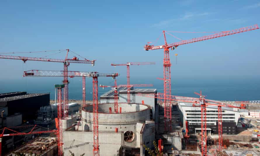 The construction site of the European pressurised reactor in the French city of Flamanville