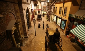Kirkgate, a Victorian Street at York Castle Museum, York.