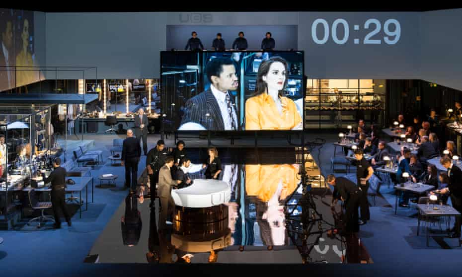 'It's all lovely, or at least I think it is' … Network at the National Theatre.