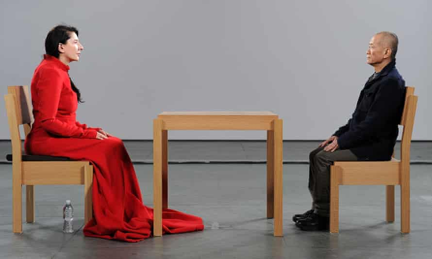 Staring time … Marina Abramovic's The Artist Is Present at MoMA, New York in 2009.