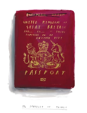 My Northern Irish Passport by Oliver JeffersThe result of the Brexit vote throughout England and Wales was a sharp reminder to those of us living in Northern Ireland of how little we are thought of by those on the mainland. This work illustrates my current mindset of the soon-to-be British passport, and the uncertain consequences the vote may have on the already fragile peace upheld since the Good Friday agreement.