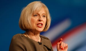 Theresa May at the Conservative party conference in 2012.