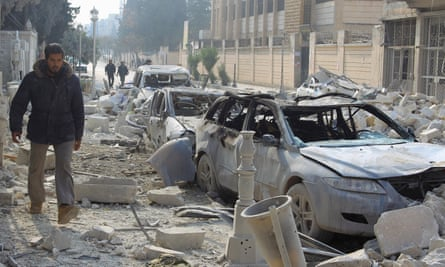 Idlib bomb site