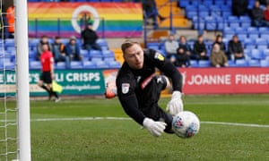 Wycombe goalkeeper Ryan Allsop reported the abuse to the referee during the half-time interval