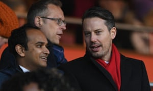 Arsenal director Josh Kroenke (right) is taking questions from angry fans at an online forum.