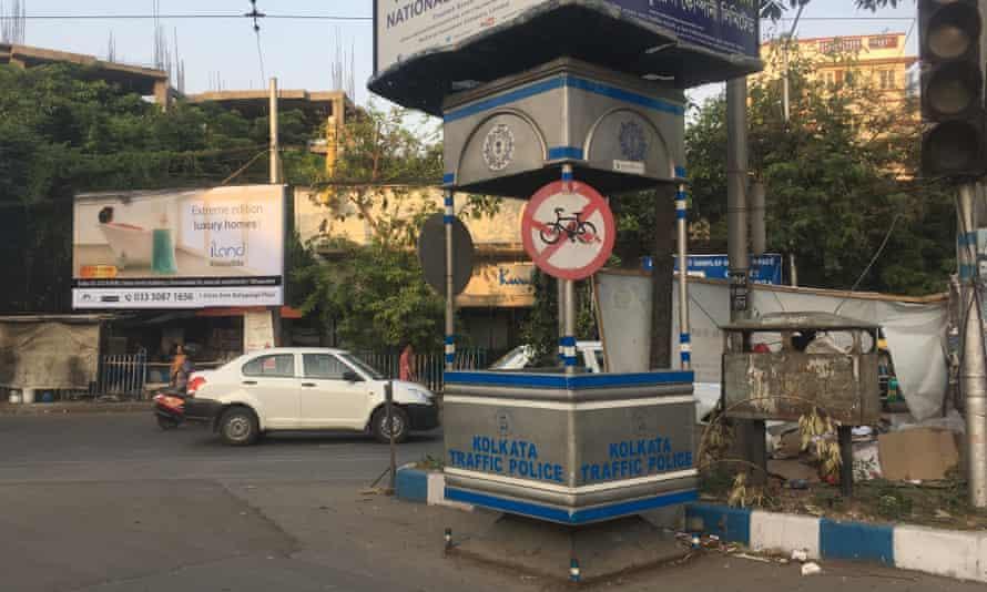 No cycling sign in Kolkata