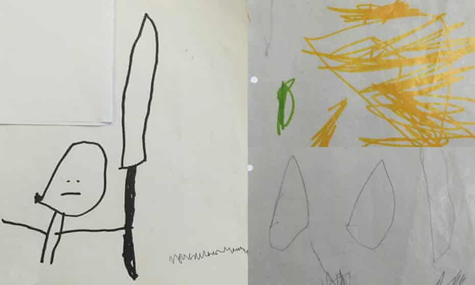 The child's drawing.