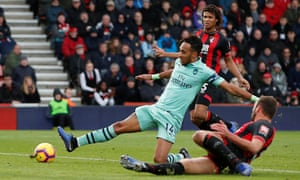 Pierre-Emerick Aubameyang scored the decisive goal in the 67th minute but Bournemouth were still in the game until the last kick.