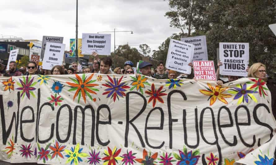 Pro-refugee demonstrations in Melbourne in 2016.