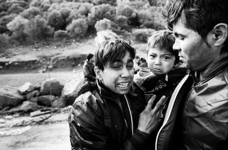 An Afghan family arrives in Lesbos